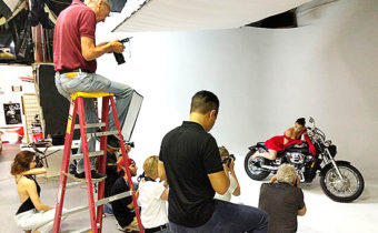 Behind the Scenes fashion photography workshop for SCC students