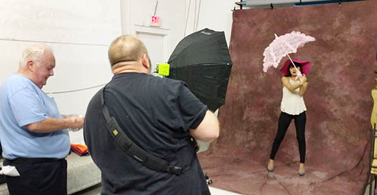 Fashion Photography workshop given to SCC students